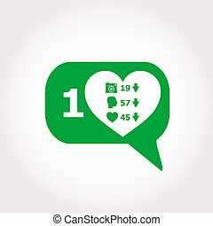 comment icons isolated on white background, like counter...