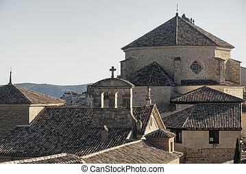 Cuenca (Spain), old church - Cuenca (Castilla-La Mancha,...