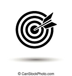 Target with dart in bulleye icon. White background with...