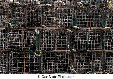 octopus fishing traps - Close up view of several octopus...