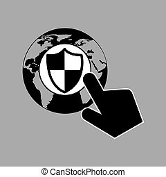 data protection smartphone globe safety