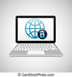 technology laptop global data protection safety
