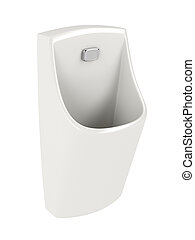 Urinal isolated on white - Ceramic urinal isolated on white...