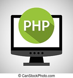 computer web development php vector illustration eps 10
