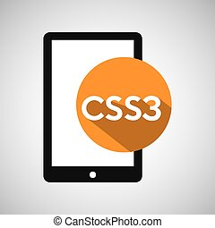 web development smartphone css3 vector illustration eps 10