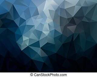 vector abstract irregular polygon background with a triangle pattern in dark blue spectrum color