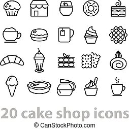 cake shop icons collection