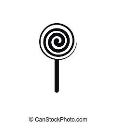 lollipop sign icon vector illustration isolated - Simple...