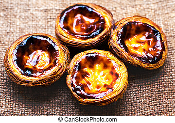 Egg Tart - Pasteis de nata, typical Portuguese egg tart...