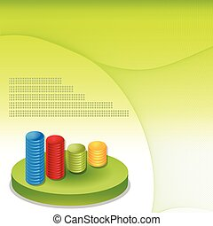 Financial infographic background