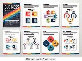 Modern infographic vector concept - Infographic vector set....