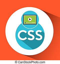 web development video player css vector illustration eps 10