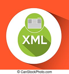 web development page code xml vector illustration eps 10