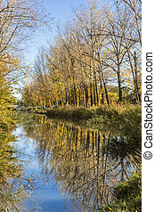 Autumn in Valladolid - Autumn is reflected in the Canal de...