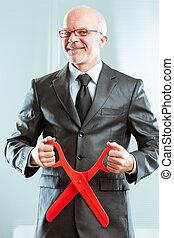 sadistic accountant ready to cuts - grotesque sadistic...
