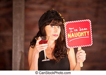 Single woman caught being naughty