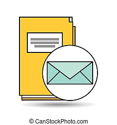 email folder directory book design vector illustration eps...