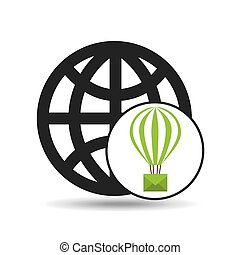 globe post email balloon icon