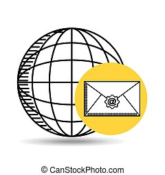 global email concept world message
