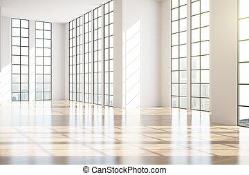 Modern unfurnished interior side - Modern unfurnished...