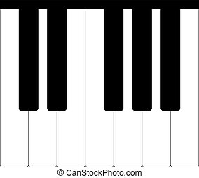 Standard piano octave isolated on a white background. vector...