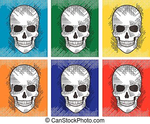 graphic skull. - Gothic coat of arms with skull,...