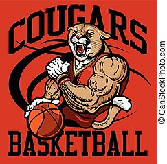 cougars basketball - muscular cougars basketball player...