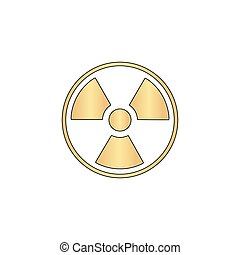 Radiation computer symbol - Radiation Gold vector icon with...