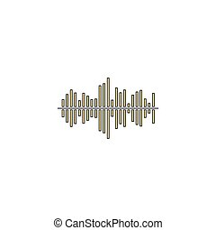 soundwave computer symbol - soundwave Gold vector icon with...
