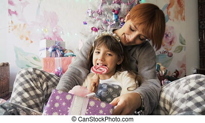 Happy Family Having Fun - Happy mother with her daughter...