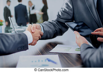 concept - benefits from successful cooperation. the...