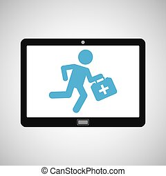 technology device health paramedic first aid vector...