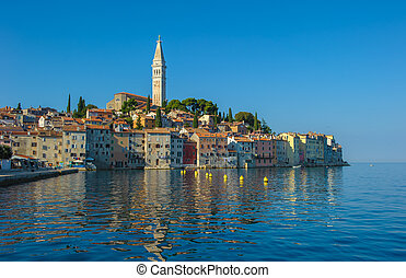 Old town of Rovinj, Istrian Peninsula, Croatia