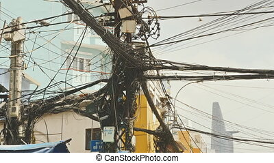 The web of power lines on the streets of Ho Chi Minh City 3...