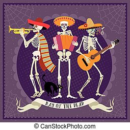 Day of the Dead. Dia de los Muertos . - Seamless pattern...