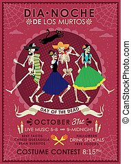 Day of the Dead. Dia de los Muertos . - Invitation poster to...
