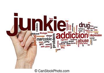 Junkie word cloud concept - Junkie word cloud