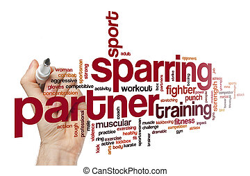 Sparring partner word cloud concept
