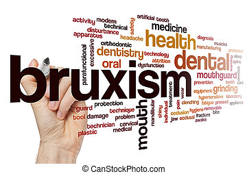 Bruxism word cloud concept