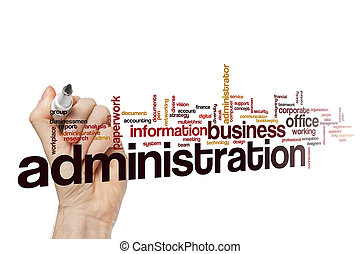 Administration word cloud concept