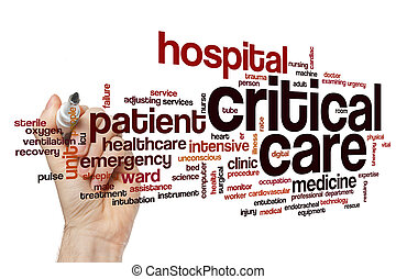 Critical care word cloud concept