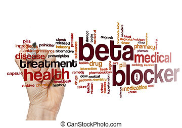 Beta blocker word cloud concept