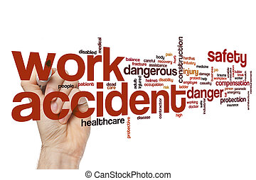 Work accident word cloud