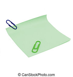 Blank Green To-Do List and paperclips - Blank Green To-Do...