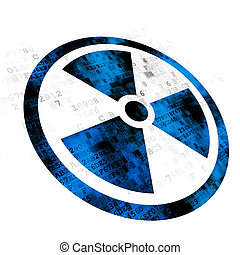 Science concept: Radiation on Digital background - Science...