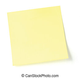Yellow Post-It / To-Do List 4 - Blank Yellow Post-It / To-Do...