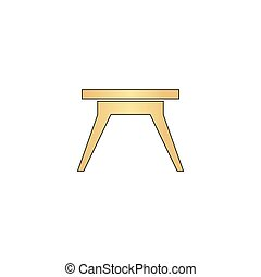 Camping table computer symbol - Camping table Gold vector...