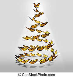 Butterfly Christmas Tree - Butterfly Christmas tree as a...