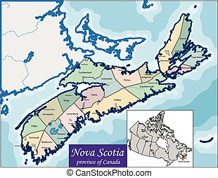Map of Nova Scotia - Nova Scotia is one of Canada three...