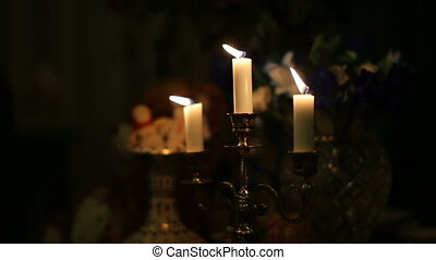 three candles fire